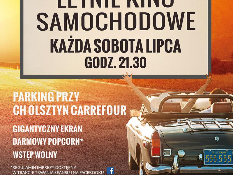 Samochodowe kino letnie w Centrum Handlowym Olsztyn przez cały lipiec