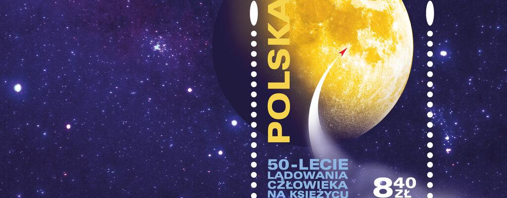 Poczta Polska wydaje znaczek z okazji 50. rocznicy lądowania człowieka na Księżycu