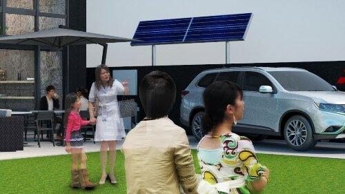 Zielona oaza Mitsubishi Motors w tokijskiej dzielnicy Ginza