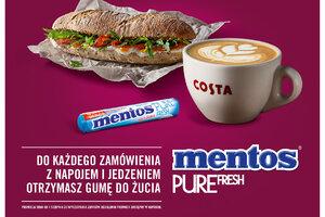 Mentos Pure Fresh z nową akcją samplingową w Costa Coffee
