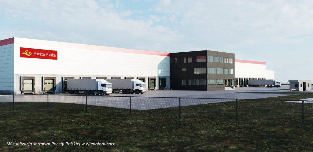 Poczta Polska stawia na rozwój logistyki. Nowa hala w Niepołomicach