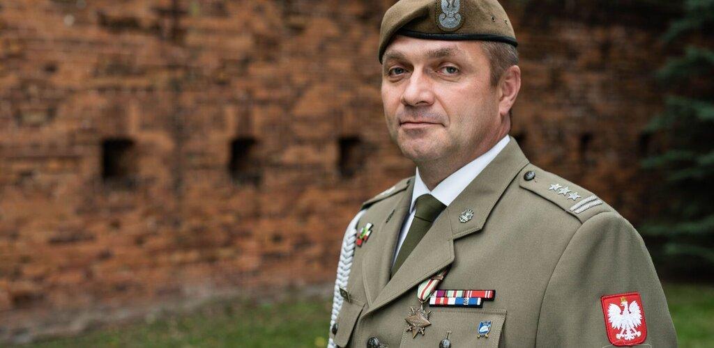 Dowódca 10 Świętokrzyskiej Brygady Obrony Terytorialnej - płk Grzegorz MOTAK
