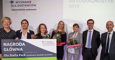 Projekt Stella Pack najlepszy w konkursie Carrefour  dla dostawców – sieć nagrodziła odpowiedzialne praktyki opakowaniowe partnerów