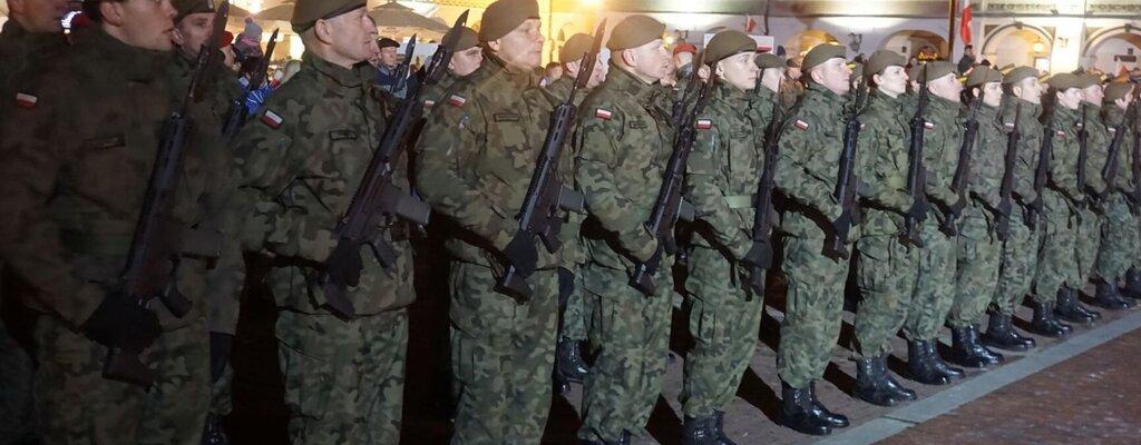 Promocja podoficerska lubelskich Terytorialsów w Zamościu