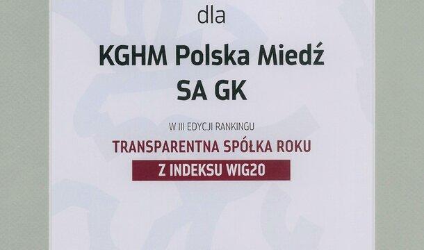 """""""Transparentna Spółka Roku"""""""