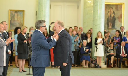 Herbert Wirth awarded the Knight's Cross of the Order of Polonia Restituta