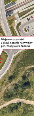 Jasień z ulicą gen. Władysława Andersa