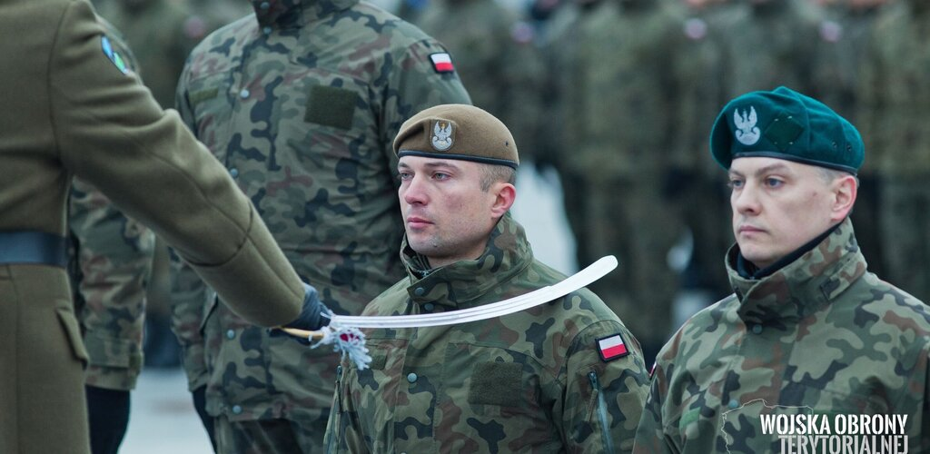 Pasowanie żołnierza na oficera