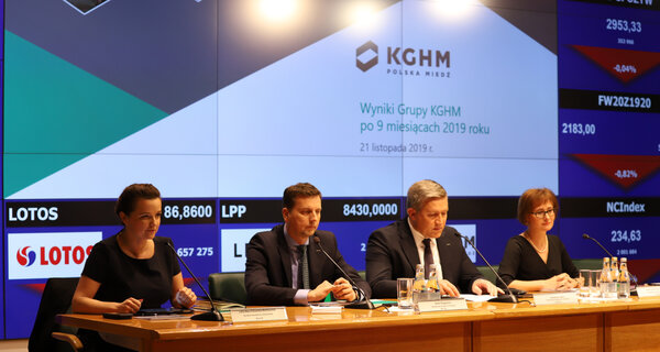 KGHM with higher production, rising EBITDA and net profit
