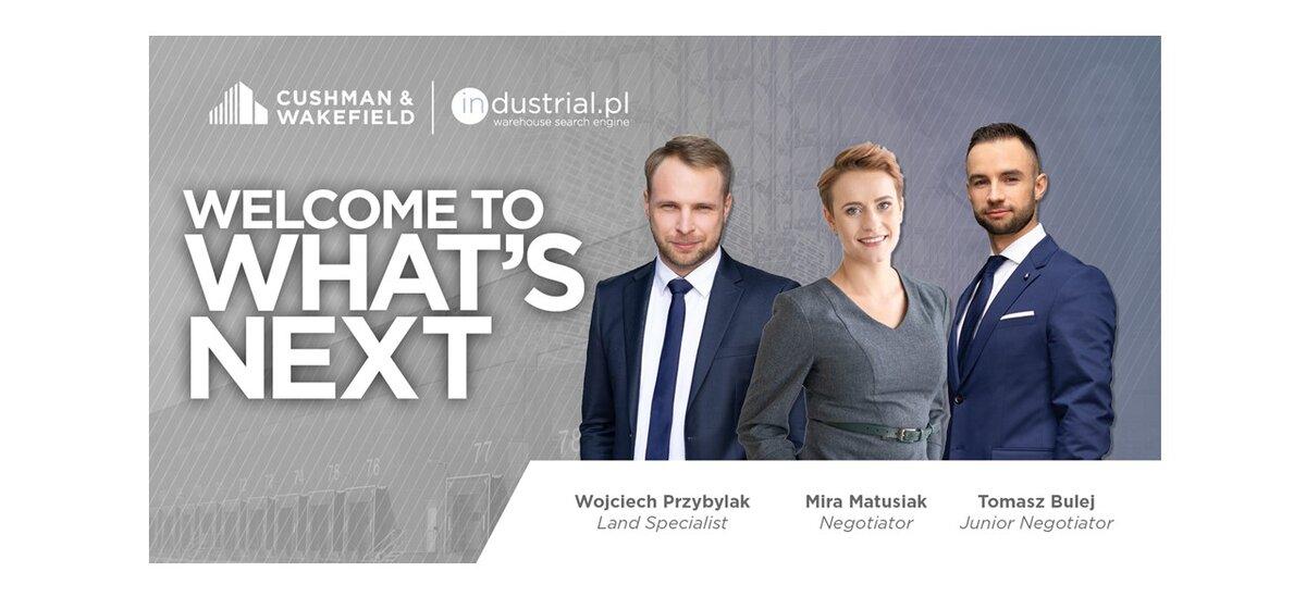 Trzech nowych specjalistów w Dziale Powierzchni Przemysłowych i Logistycznych, Cushman & Wakefield
