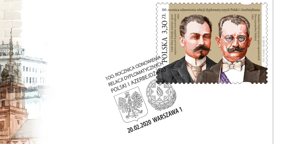 Poczta Polska upamiętnia 100. rocznicę odnowienia relacji dyplomatycznych pomiędzy Warszawą i Baku