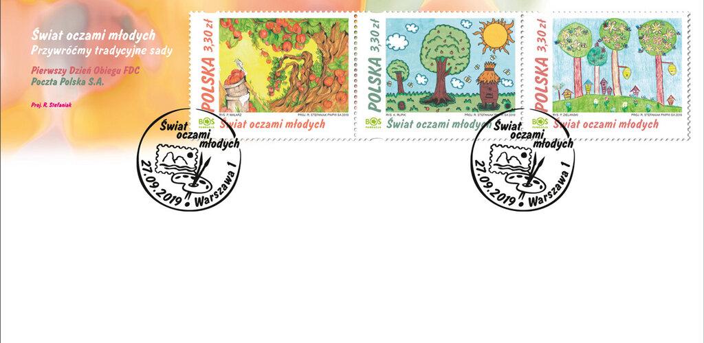Wolontariat na znaczkach pocztowych