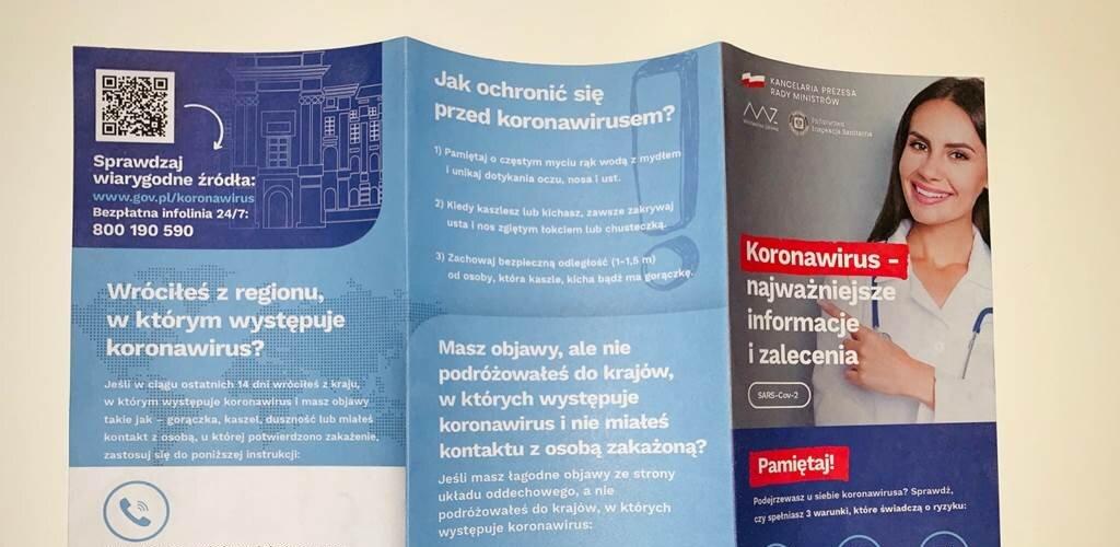 Poczta Polska dostarczy 15 mln ulotek dotyczących koronawirusa do wszystkich gospodarstw domowych w kraju