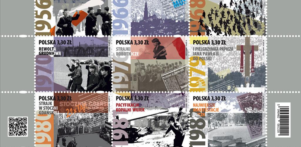 """""""Droga do wolności"""" na znaczkach Poczty Polskiej"""