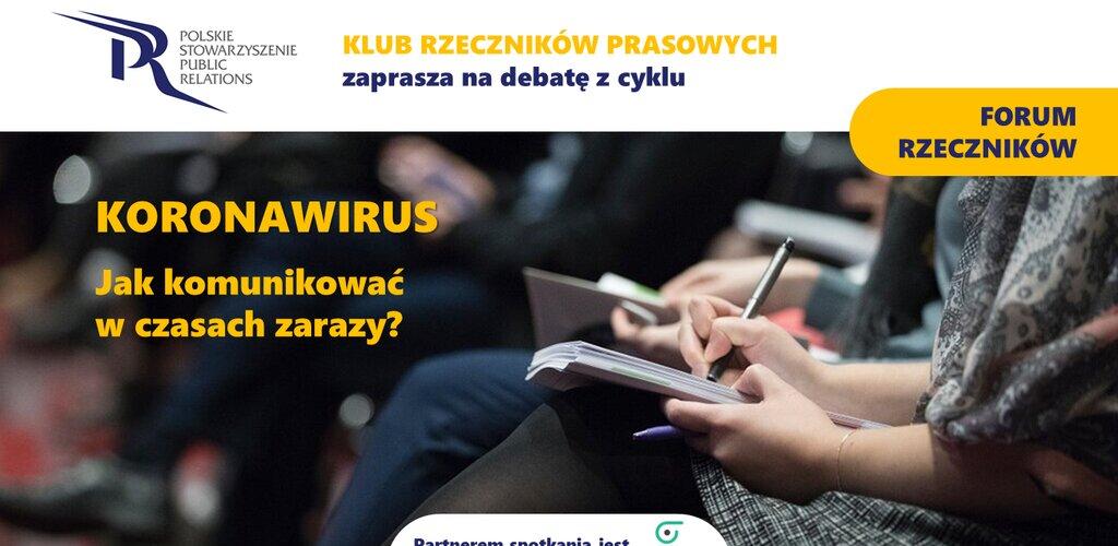 Koronawirus - jak komunikować w czasie epidemii? Transmisja z Forum Rzeczników PSPR już 19 marca