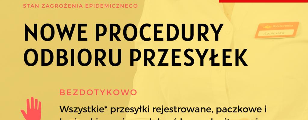 Poczta Polska przyjęła nowe procedury doręczania przesyłek