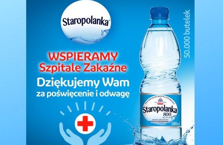Grupa KGHM: przekazanie wody mineralnej do 19 szpitali zakaźnych w Polsce