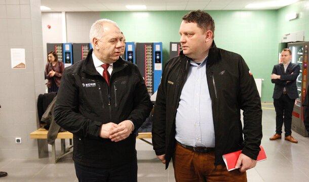 Wicepremier z wizytą – KGHM wspiera rząd w działaniach na rzecz walki z koronawirusem