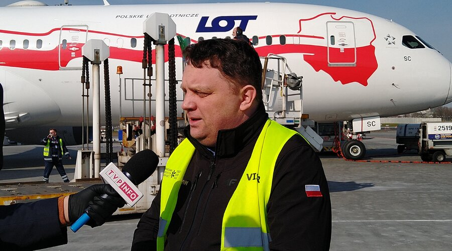 KGHM Polska Miedź S.A. sprowadza z Chin sprzęt medyczny za ponad 15 mln usd. Pierwszy samolot już wylądował!