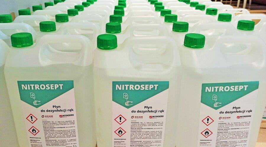KGHM przekazuje 20 tysięcy litrów płynu do dezynfekcji