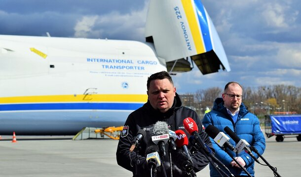 The world's largest transport plane brought medical equipment to Poland. It will serve to fight the Covid-19 epidemic