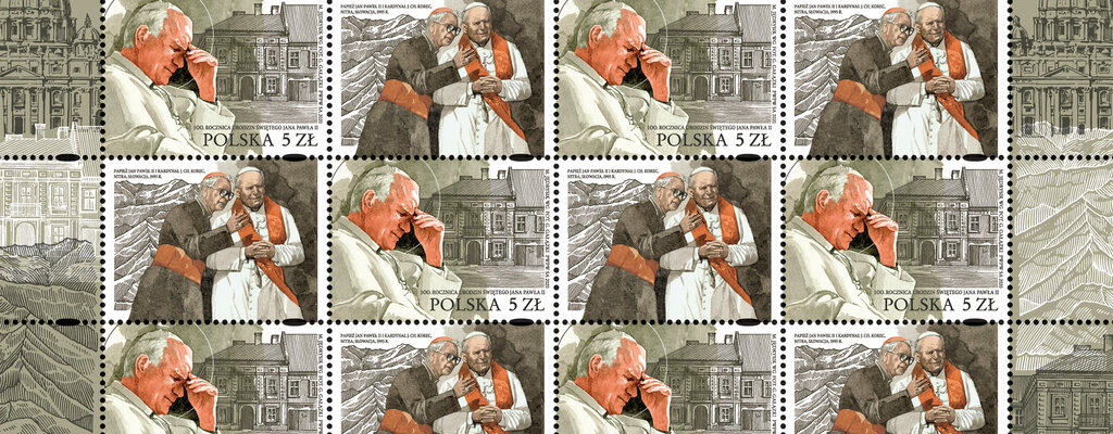 Znaczek na urodziny św. Jana Pawła II