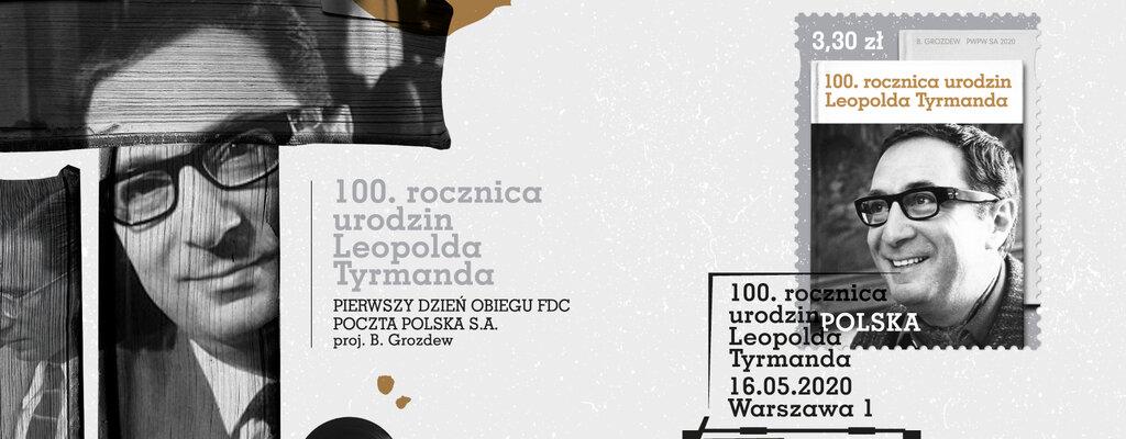 Poczta Polska honoruje znaczkiem Leopolda Tyrmanda