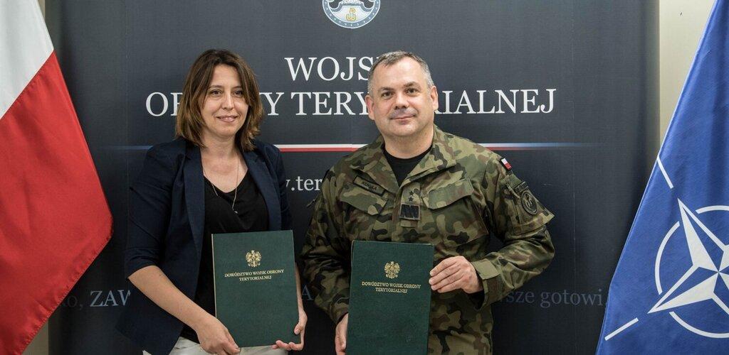Porozumienie o współpracy Narodowego Centrum Krwi i Dowództwa Wojsk Obrony Terytorialnej.