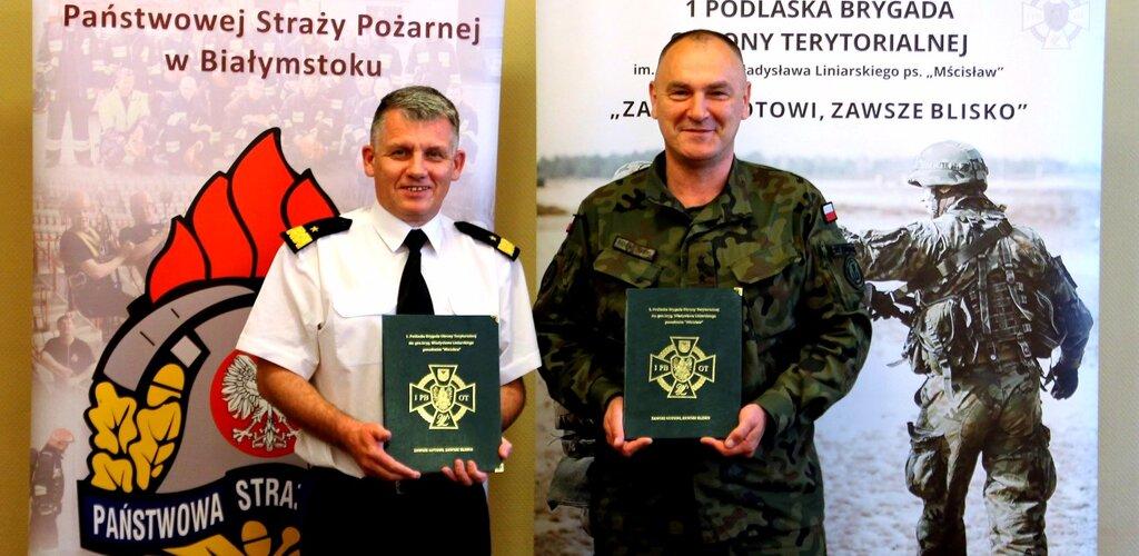 Podlascy terytorialsi podpisali porozumienie o współpracy ze strażakami