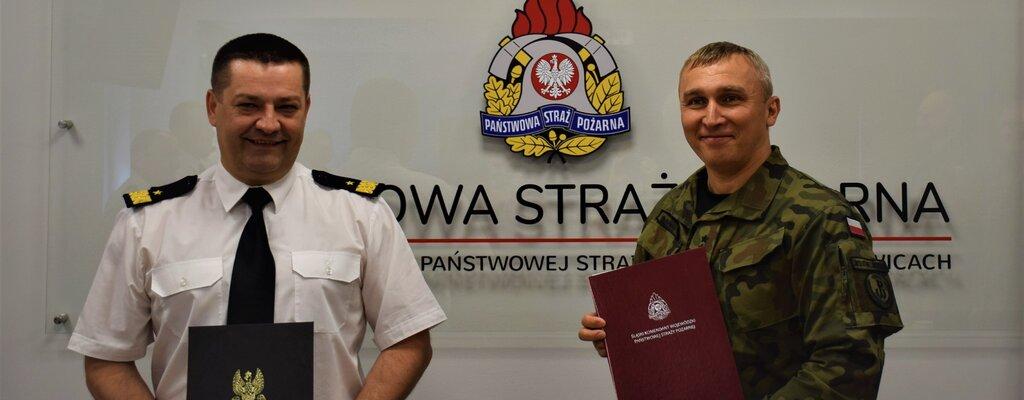 Śląscy terytorialsi podpisali porozumienie o współpracy ze strażakami