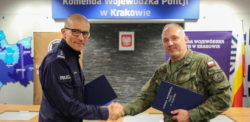Małopolscy Terytorialsi podpisali porozumienie o współpracy z policją