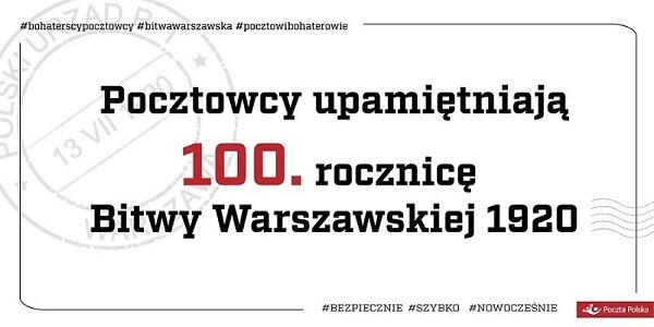 Poczta Polska upamiętni 100. rocznicę Bitwy Warszawskiej 1920