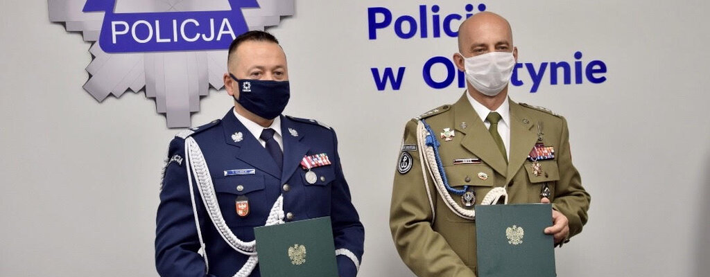 Porozumienie o współpracy 4. Warmińsko-Mazurskiej Brygady OT z Policją