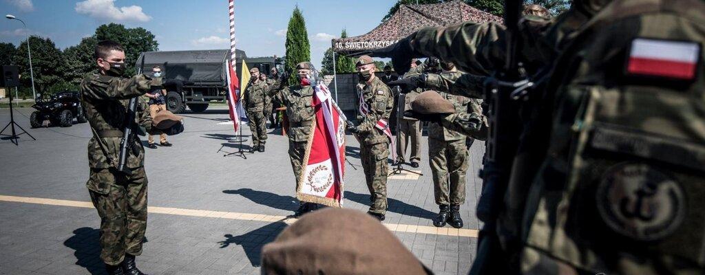 Świętokrzyscy Terytorialsi przysięgali po raz pierwszy na własny sztandar