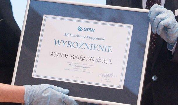 Warszawska Giełda nagrodziła KGHM za relacje inwestorskie