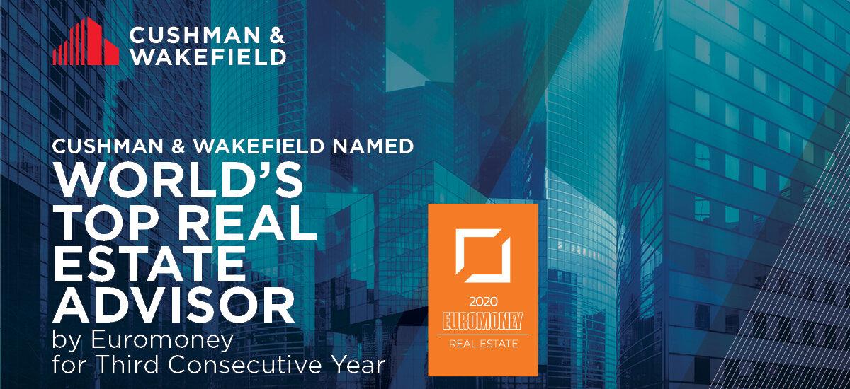"""Cushman & Wakefield najlepszą firmą doradczą w Europie Środkowo-Wschodniej i na świecie według magazynu """"Euromoney"""""""