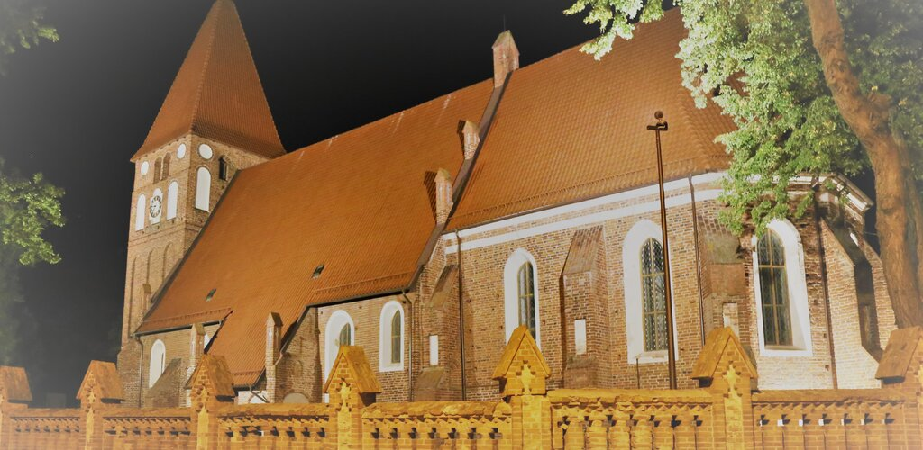 Iluminacje kościołów w Gminie Pasłęk