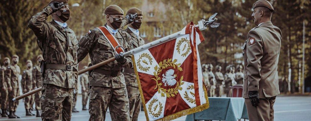 Sztandar wojskowy dla 4. Warmińsko-Mazurskiej Brygady OT