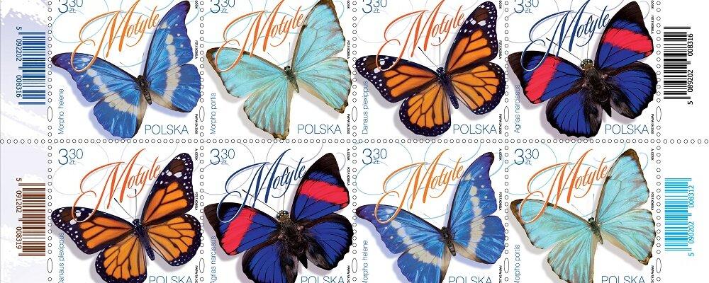 Poczta Polska: najpiękniejsze motyle na znaczkach pocztowych