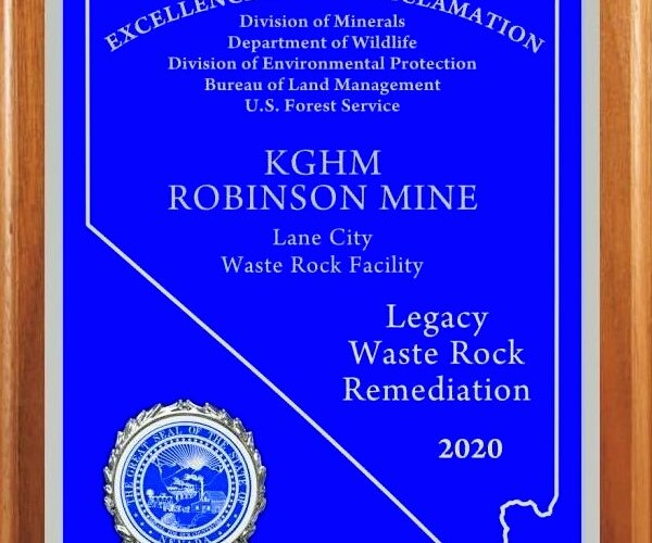 An American mine of KGHM awarded for Legacy Waste Rock Remediation