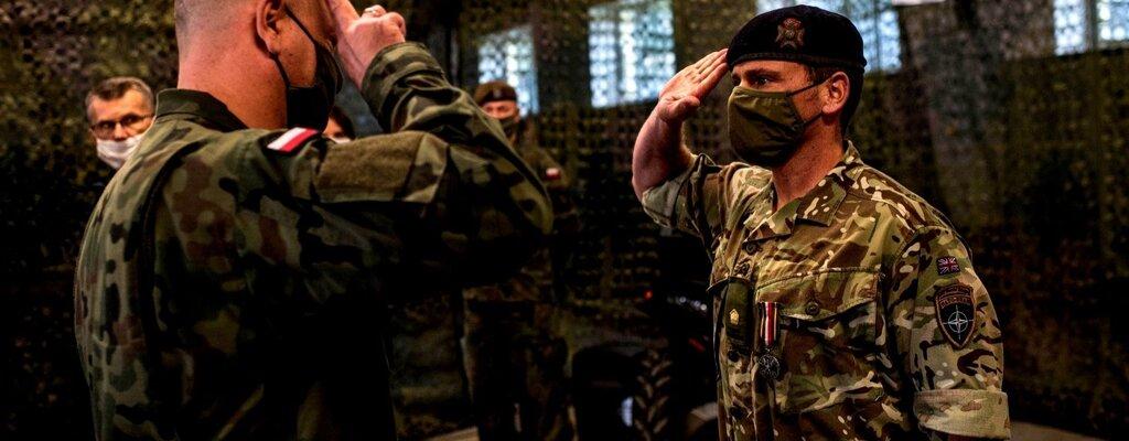 Srebrny Medal Wojska Polskiego dla brytyjskiego oficera
