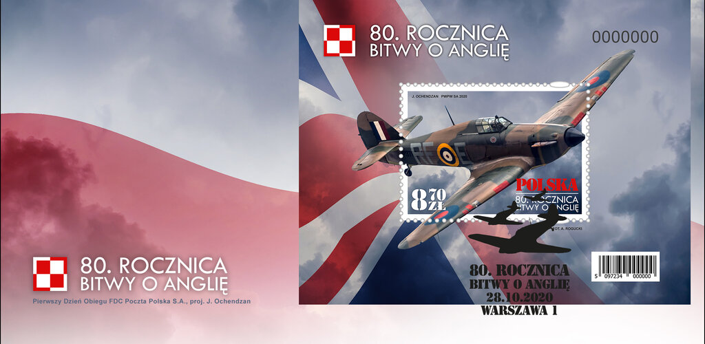 Poczta Polska: wyjątkowe znaczki upamiętniające słynną Bitwę o Anglię oraz Armię gen. Władysława Andersa