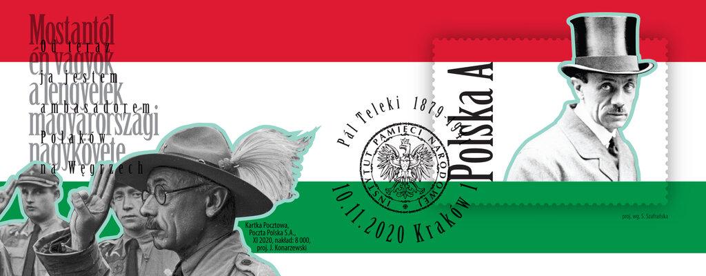 Węgierski mąż stanu na kartce pocztowej