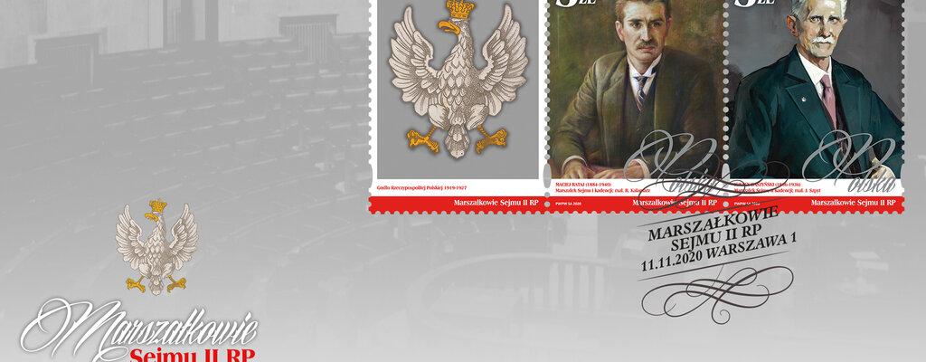 Marszałkowie Sejmu II RP na znaczkach pocztowych