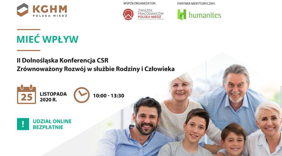 """""""Mieć Wpływ"""" – KGHM organizatorem II Dolnośląskiej Konferencji CSR"""