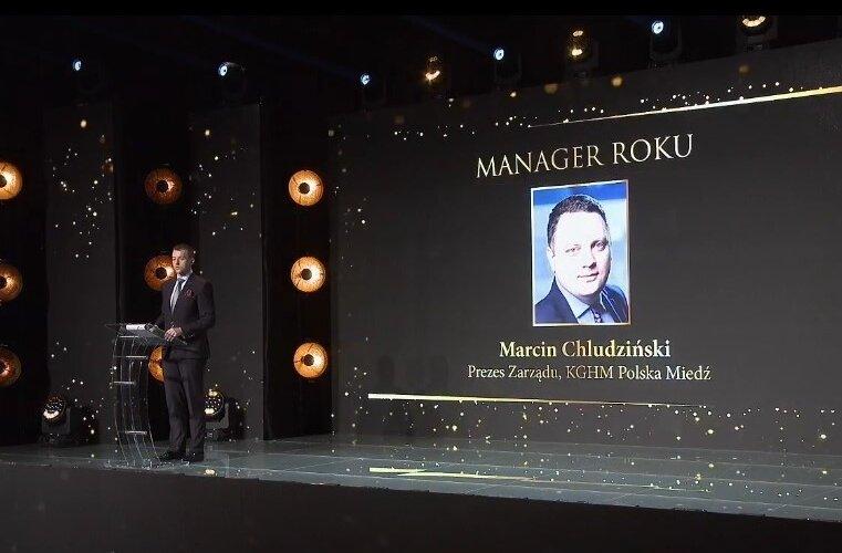 """Prezes KGHM Marcin Chludziński """"Managerem Roku"""" w konkursie Liderzy Świata Energii"""