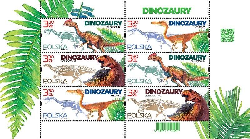 Znaczki pocztowe z dinozaurami