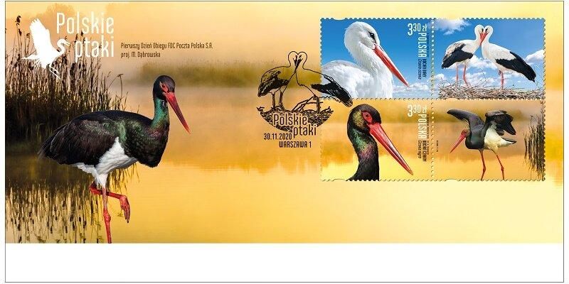 Polskie ptaki na znaczkach pocztowych