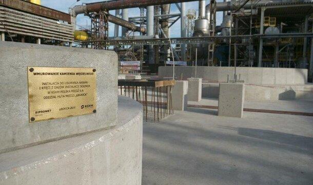 Gigantyczna inwestycja w czyste powietrze na Dolnym Śląsku. KGHM buduje Instalację Oczyszczania Gazów w Hucie Miedzi Legnica