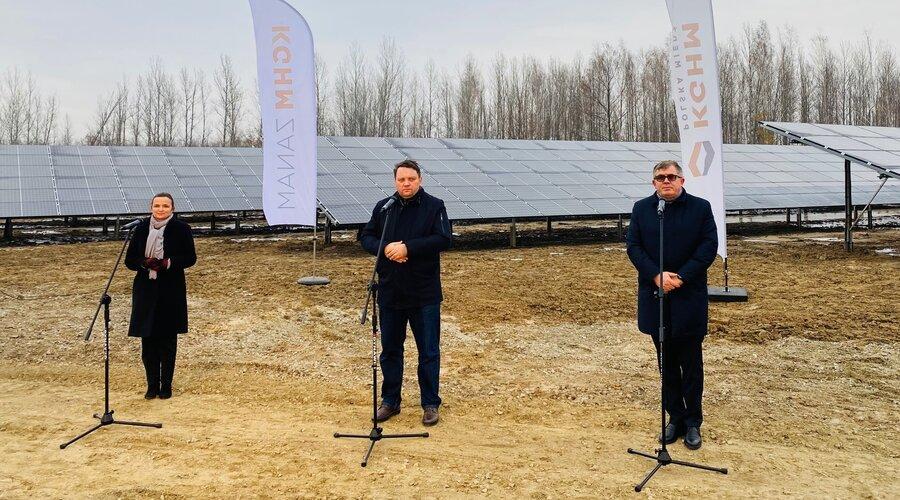 Czysta energia w KGHM. Wystartowała pierwsza w Polsce elektrownia fotowoltaiczna w technologii 4.0